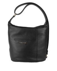 Cole Haan | Black Omega Leather Hobo Bag | Lyst