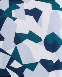 Zara | Blue Geometric Military T-shirt for Men | Lyst