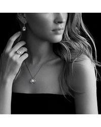 David Yurman - Metallic Noblesse Drop Earrings with Prasiolite and Diamonds - Lyst