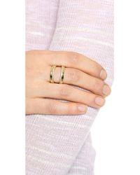 Gorjana | Metallic Split Shimmer Ring - Gold/Clear | Lyst