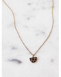 Free People - Metallic Aili Jewelry Womens Sunrise Diamond Necklace - Lyst