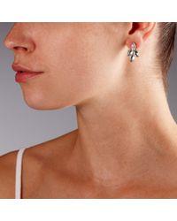 John Lewis - Metallic Four Petals Stud Earring - Lyst