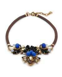J.Crew | Blue Sphere Necklace | Lyst