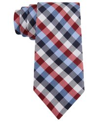 Tommy Hilfiger | Blue Multi-gingham Slim Tie for Men | Lyst