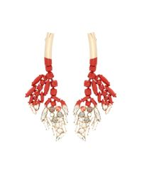 Marni - Red Crystal-embellished Earrings - Lyst