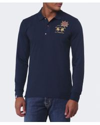 La Martina - Blue Guards Long Sleeve Polo Shirt for Men - Lyst