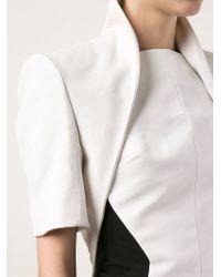 Gareth Pugh | White Cropped Jacket | Lyst