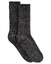 Hue | Gray Women's Tweed Ribbed Boot Socks | Lyst