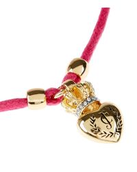 Juicy Couture - Pink Duchess Crest Heart Cord Bracelet - Lyst