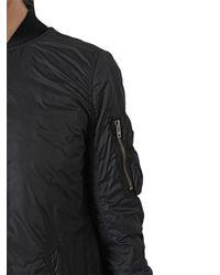 Rick Owens - Black Padded Nylon Jacket for Men - Lyst