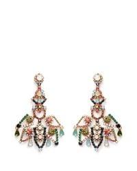 J.Crew - Multicolor Crystal Lace Earrings - Lyst