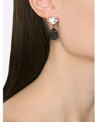 Melissa Joy Manning - Black Herkimer Diamond And Druzy Drop Earrings - Lyst