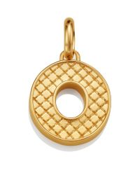 Monica Vinader | Metallic Gold Quilted Capital O Pendant | Lyst