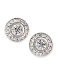 Roberto Coin | 18-karat White Gold Diamond Stud Earrings | Lyst