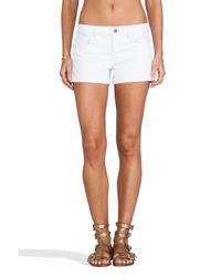 Joe's Jeans - White Rolled Short in Pennie - Lyst