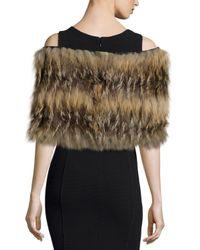 Gorski - Brown Layered Fox Fur Cowl Collar - Lyst