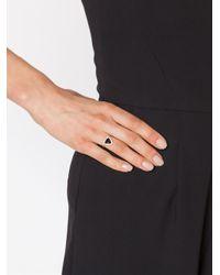 Jacquie Aiche - Black Triangle Stone Ring - Lyst