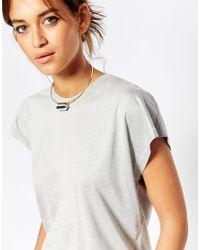 ASOS - Metallic Mono Semi Precious Stone Choker Torque Necklace - Lyst