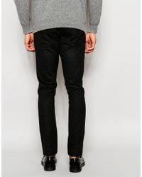 ASOS   Black Skinny Trousers In Wool Look Grey for Men   Lyst