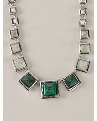 Eddie Borgo - Metallic Graduated Gemstone Pyramid Necklace - Lyst
