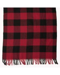 Tommy Hilfiger | Red Check Scarf | Lyst