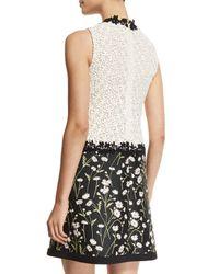 Giambattista Valli - White Sleeveless Daisy Jacquard Cocktail Dress - Lyst