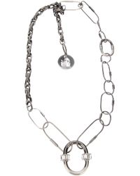 Lanvin - Metallic Chain Link Necklace - Lyst