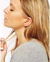 ASOS | Metallic Sterling Silver Lightning Bolt Through Earrings | Lyst