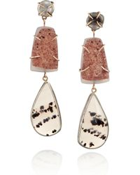 Melissa Joy Manning | Red 14karat Gold Pearl Druzy and Agate Drop Earrings | Lyst