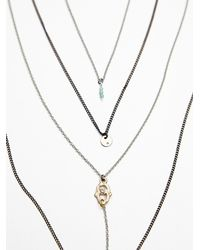 Free People | Gray Womens Waterfalls Necklace | Lyst