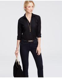 Ann Taylor | Black Petite Perfect Shirt | Lyst