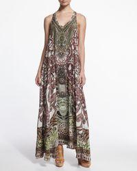 Camilla - Multicolor Embellished Racerback Coverup Dress - Lyst
