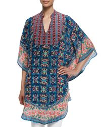 Tolani - Blue Belle Printed Long Tunic - Lyst