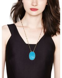 "kate spade new york - Blue Give It A Swirl Twisted Necklace, 21"" - Lyst"