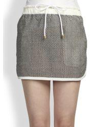 Sacai | Gray Drawstring-Waist Skirt | Lyst