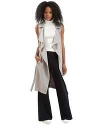 TOPSHOP - Gray Sleeveless D-Ring Duster - Lyst