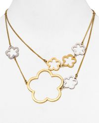 "Marc By Marc Jacobs - Metallic Daisies Necklace, 17"" - Lyst"