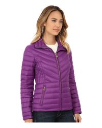 MICHAEL Michael Kors | Purple Short Zip Packable Down | Lyst