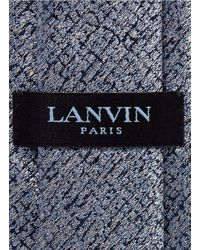Lanvin - Blue Paint Mark Silk Tie for Men - Lyst