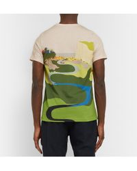 J.W.Anderson | Green Landscape Printed Cotton T-Shirt for Men | Lyst