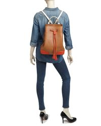 Tory Burch - Brown Backpack - Frances Colorblock - Lyst