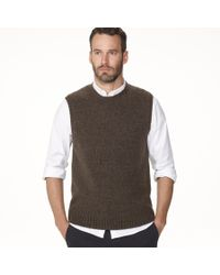 James Perse - Brown Wool Blend Vest for Men - Lyst