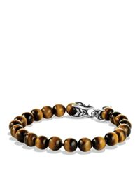 David Yurman | Metallic Spiritual Beads Bracelet With Tiger's Eye for Men | Lyst
