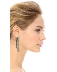 Oscar de la Renta | Metallic Chandelier Earrings - Crystal/silver | Lyst