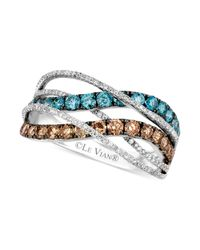 Le Vian | Brown Exotics Chocolate And Blue Diamond Ring (1- 1/3 Ct. T.w.) In 14k White Gold | Lyst