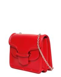 Alexander McQueen Red Heroine With Chain Leather Shoulder Bag