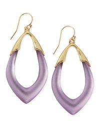 Alexis Bittar - Metallic Prairie Crocus Orbit Lucite Earrings Purple - Lyst