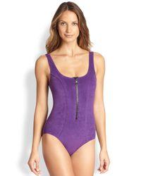 Lisa Marie Fernandez | Purple Onepiece Jasmine Swimsuit | Lyst