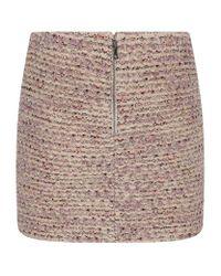 Alice + Olivia | Natural Elana Tweed Mini Skirt | Lyst