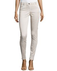 Nicole Miller - Natural Coated Stretch Denim Pants - Lyst